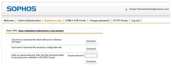 Connect AWS via VPN client - UTM Sophos